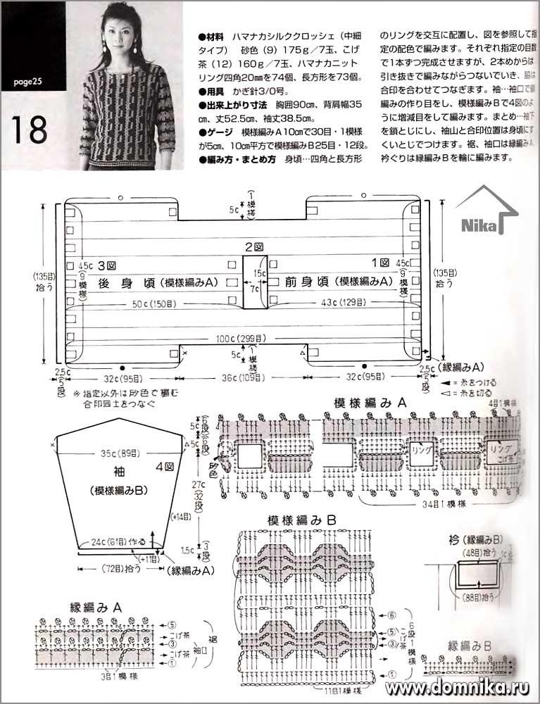 Схемы вязания женских кофточек