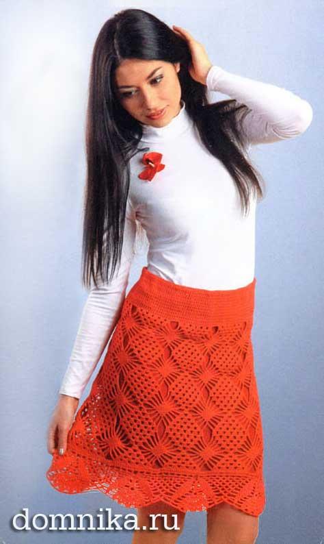 вязаные юбки из японских журналов со схемами
