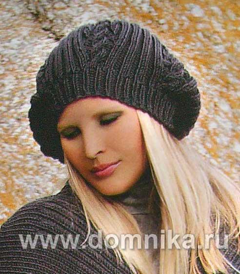 вязание крючком берета для женщин модные