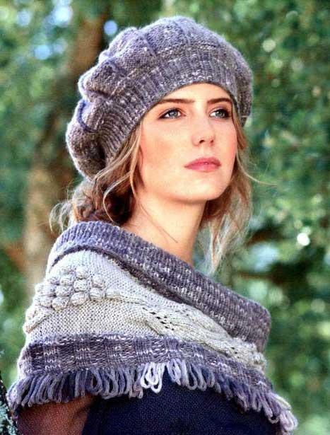 Вязание на спицах шапок беретов
